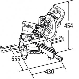 Disegno Troncatrice da banco Makita BLS713Z 18V mm. 190 Solo Corpo Macchina