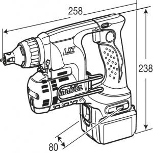 disegno Avvitatore per cartongesso Makita BFS440Z 14,4V 3,0 Ah ( Fino Esaurimento Scorte) Solo Corpo Macchina