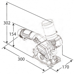 Disegno Sega Diamantata Makita CC300DWE 10,8V 1,3 A
