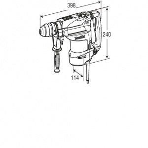 Disegno Tassellatore 850W Makita HR3200C mm. 32