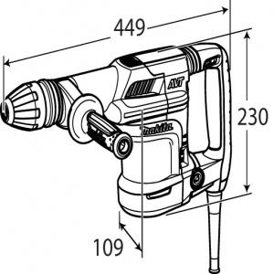 Disegno Demolitore 1110w Makita HM0870C kg. 5,1