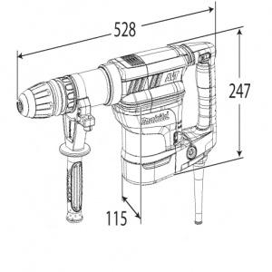 Disegno Demolitore 1300w 11,5J Makita HM1101C kg. 7,0