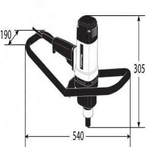 Disegno Trapano Miscelatore 1150w Makita UT120 M14