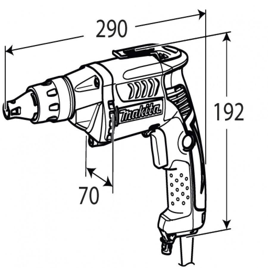 disegno Avvitatore per cartongesso Makita FS2300K 570w