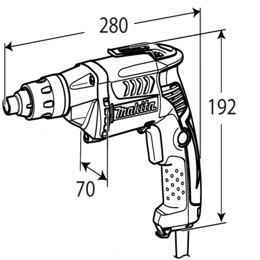 disegno Avvitatore per cartongesso Makita FS2500K 570w