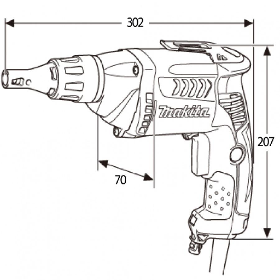 disegno Avvitatore per cartongesso Makita FS2700K 570w