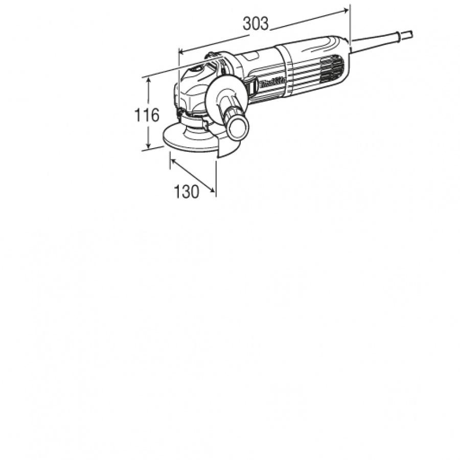 Disegno smerigliatrice angolare Makita GA4540C