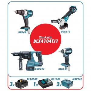 Makita DLX4104TJ1 Set elettroutensili 18V - DLX4104TJ1