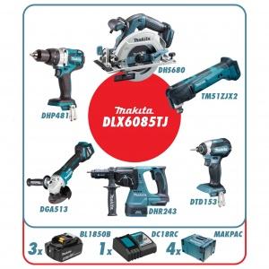 Makita DLX6085TJ Set elettroutensili 18v - DLX6085TJ