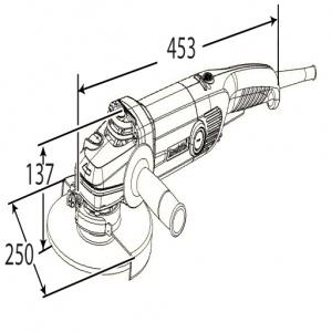 Disegno smerigliatrice angolareMakita GA9012C