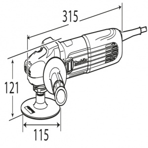 Disegno Levigatrice 1400w Makita SA5040C mm. 180