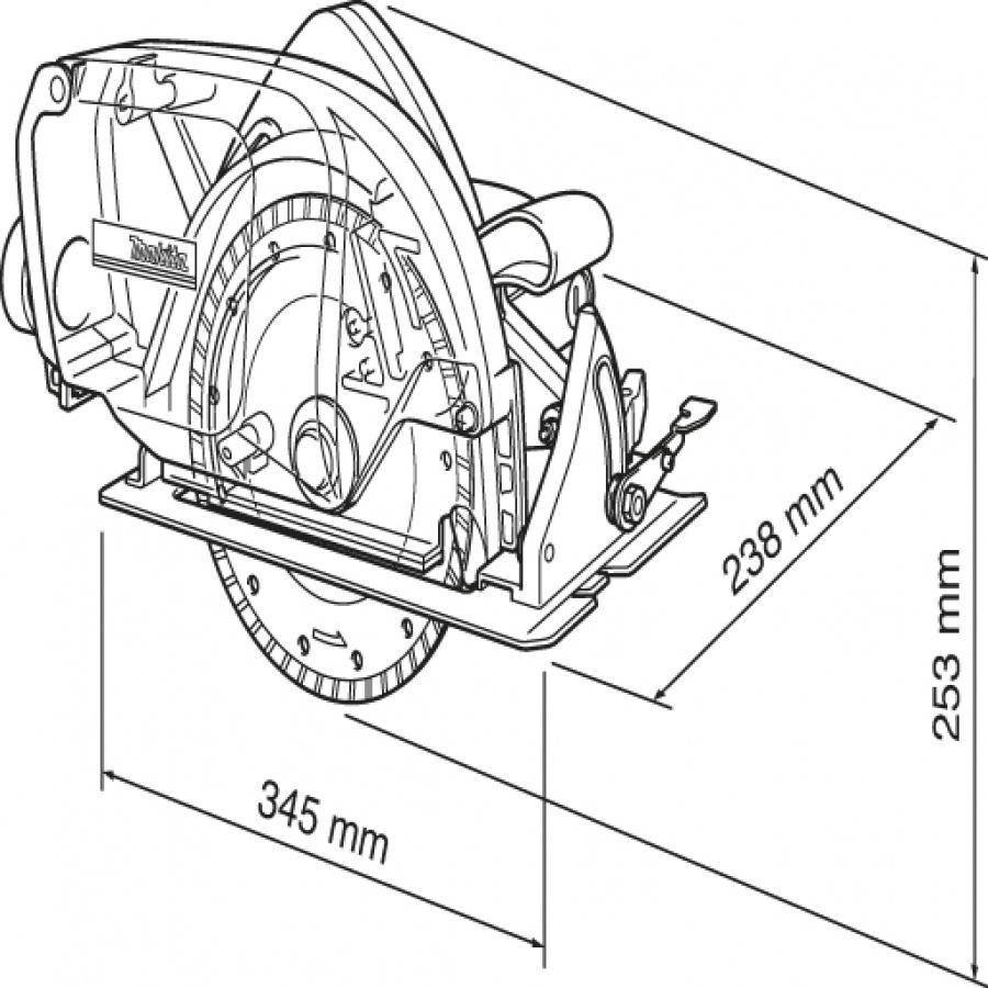 Disegno Sega a disco diamantato 1400w  Makita 4157KB