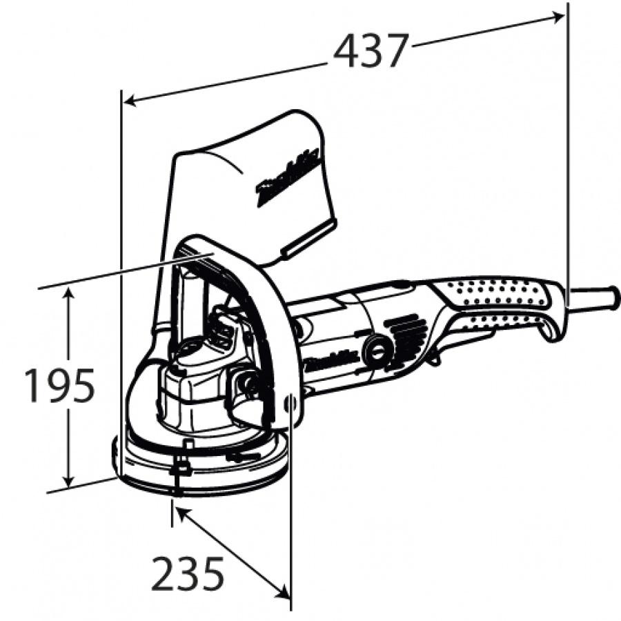 Disegno Pialla da muro 1400w Makita PC5000C mm. 125