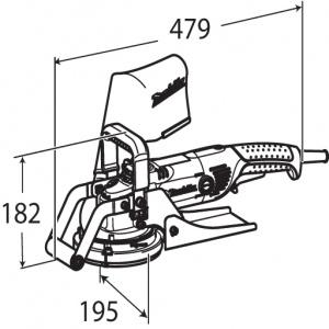 Disegno Pialla da muro 1400w Makita PC5001C mm. 125
