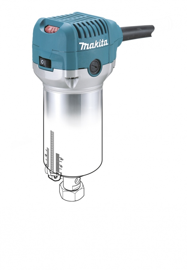 Rifilatore con 4 Basi per tagli Inclinati, Offset, ad Affondamento , per Rifilare710w Makita RT0700CX3  710w