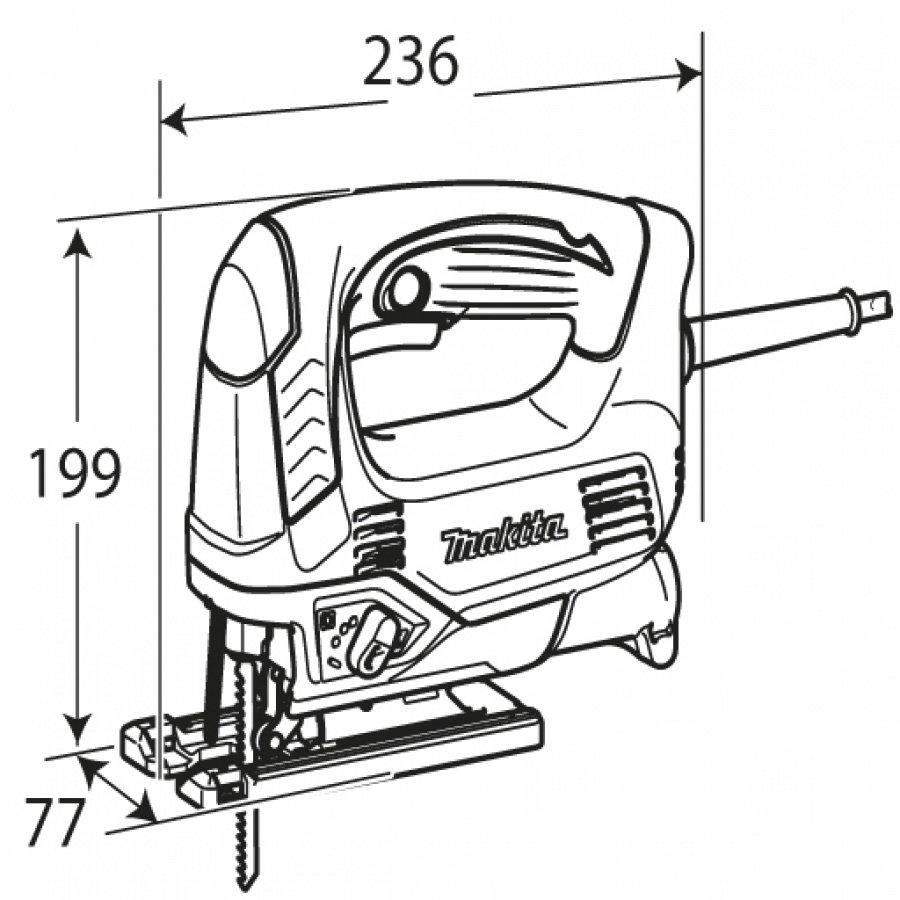 Disegno Seghetto alternativo 650w Makita JV0600K