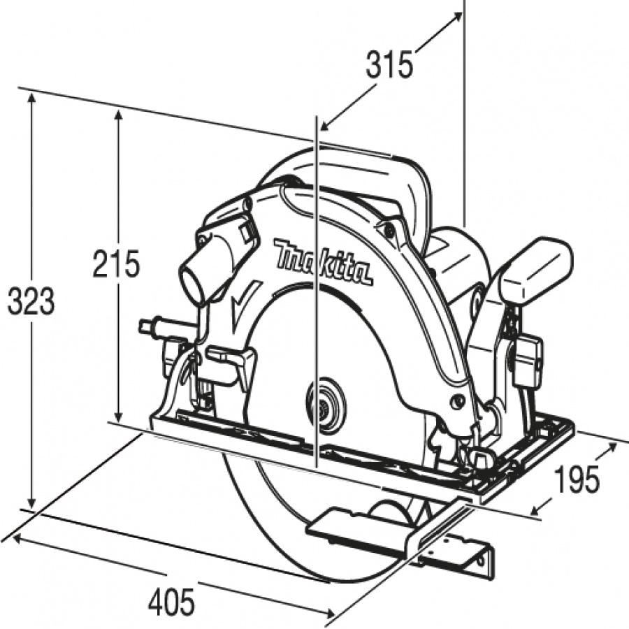 Disegno Sega circolare 2100w Makita 5104S mm. 270