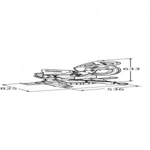 Diegno Sega da banco radiale 1430w Makita LS1018L mm. 260