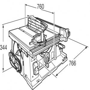 Disegno Sega da banco 1650w Makita 2704 mm. 260