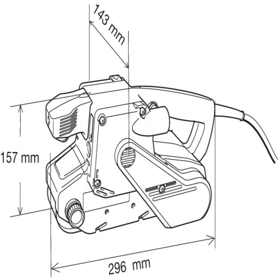 Disegno Levigatrice a nastro 1010w Makita 9903 mm. 76x533