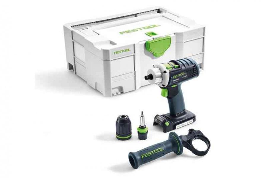 Festool drc 18/4 li-basic trapano avvitatore senza batterie 574695 - dettaglio 1