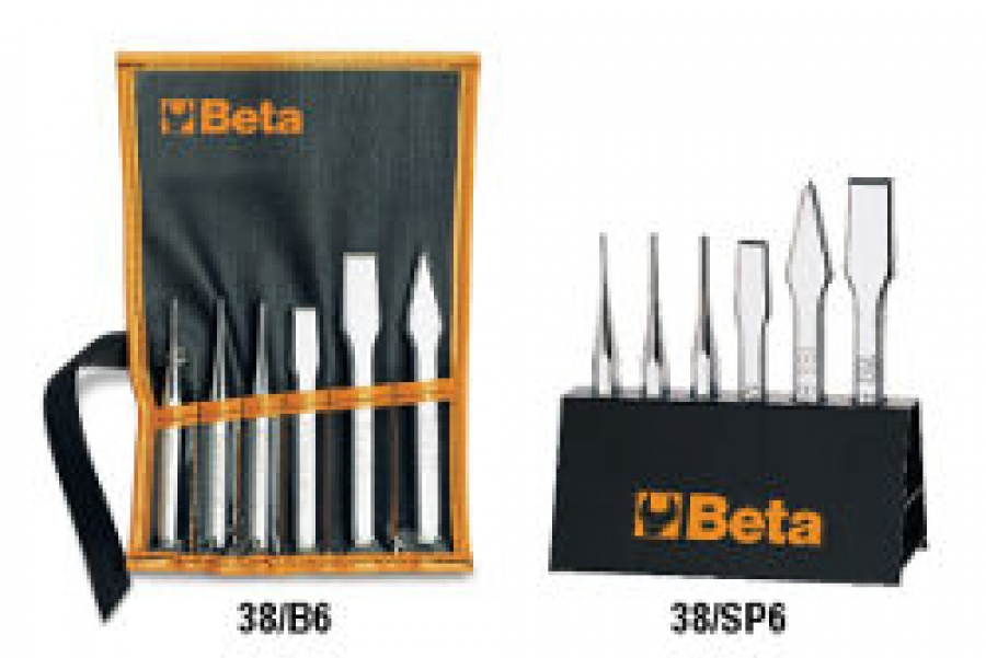 Serie scalpelli, ugnetti, punzoni Beta 38/B6 pz. 6