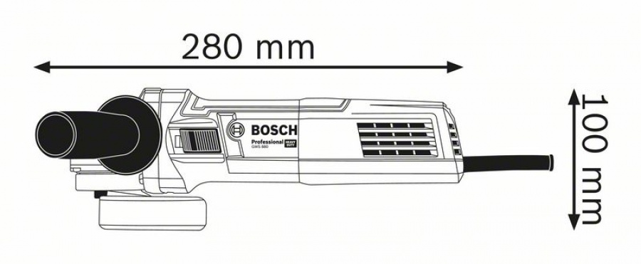 Bosch gws 880 smerigliatrice angolare 060139600a - dettaglio 2