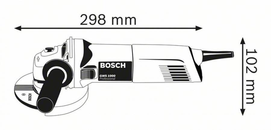 Bosch gws 1000 smerigliatrice angolare 0601828901 - dettaglio 3