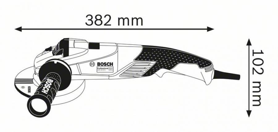 Bosch gws 18-125 l inox smerigliatrice angolare compatta 06017a4000 - dettaglio 2