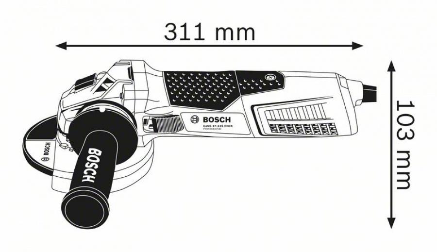 Bosch gws 17-125 inox smerigliatrice angolare 060179m008 - dettaglio 2