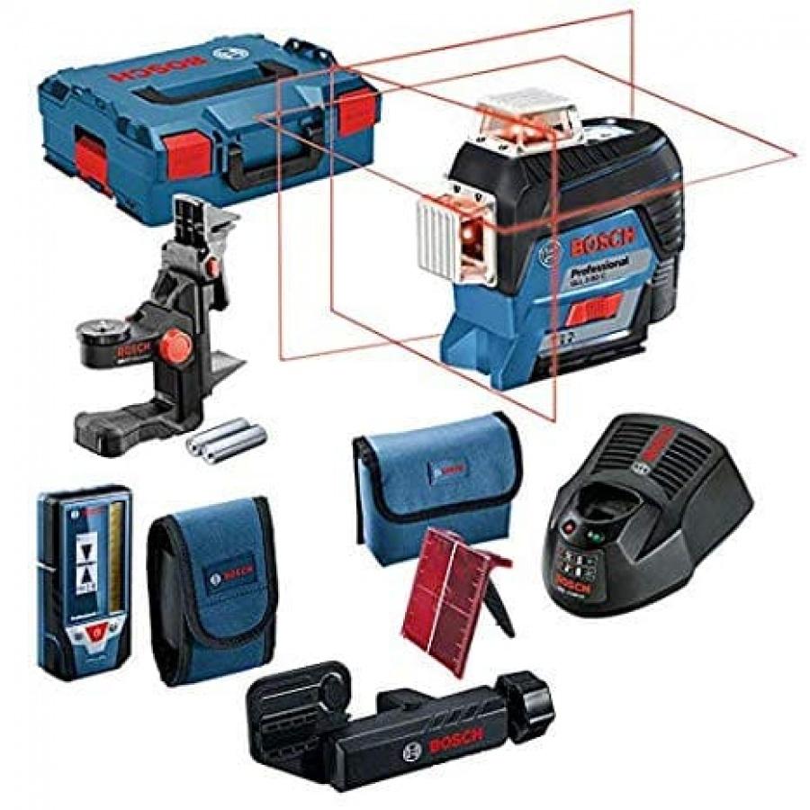 Livella laser bosch 0601063r05 gll 3-80 c + bm 1 + lr 7 - dettaglio 1