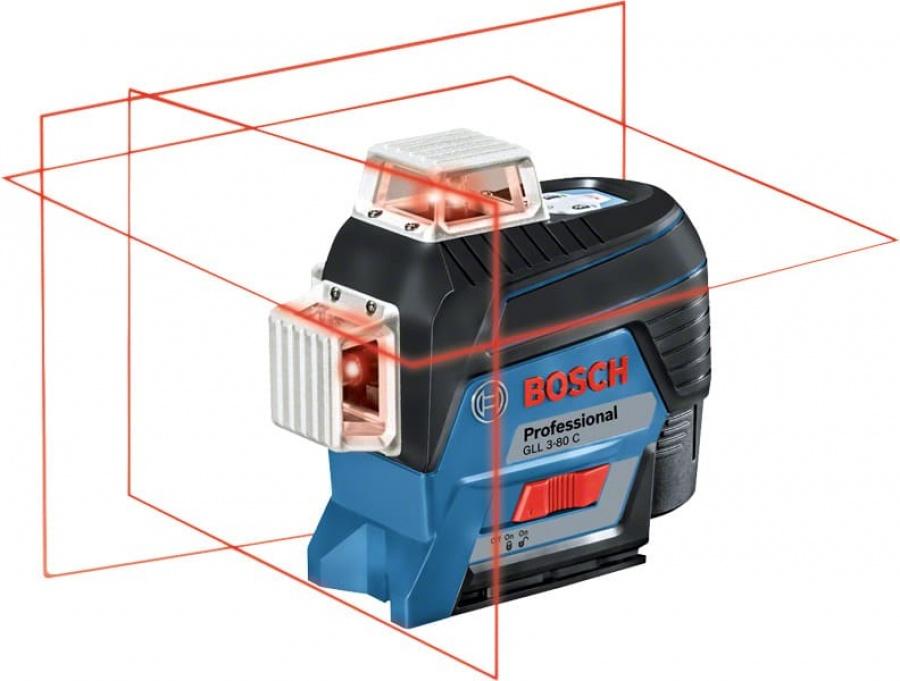 Livella laser bosch 0601063r05 gll 3-80 c + bm 1 + lr 7 - dettaglio 2