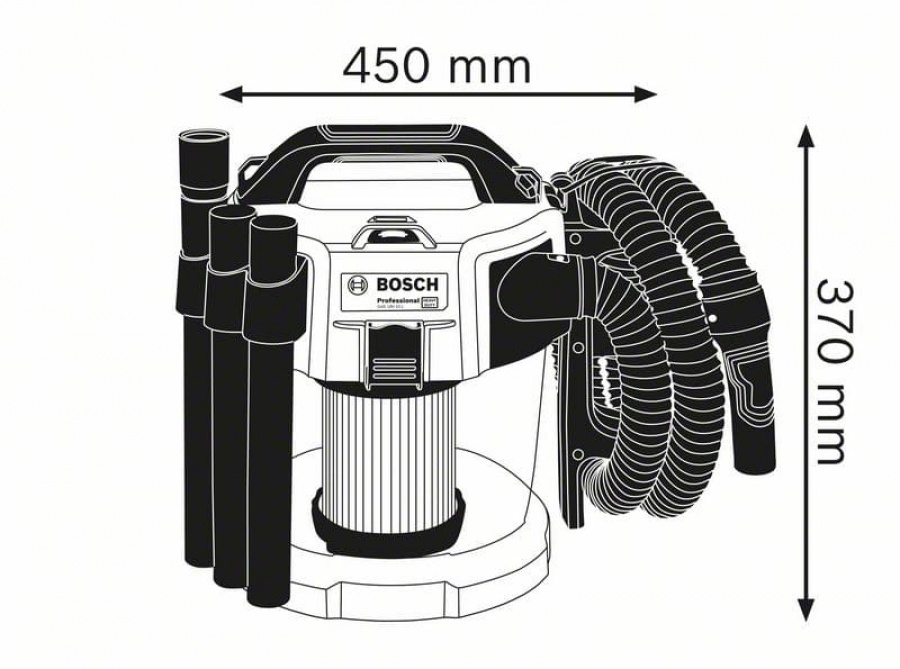 Bosch gas 18v-10 l aspiratore a batteria 06019c6301 - dettaglio 3