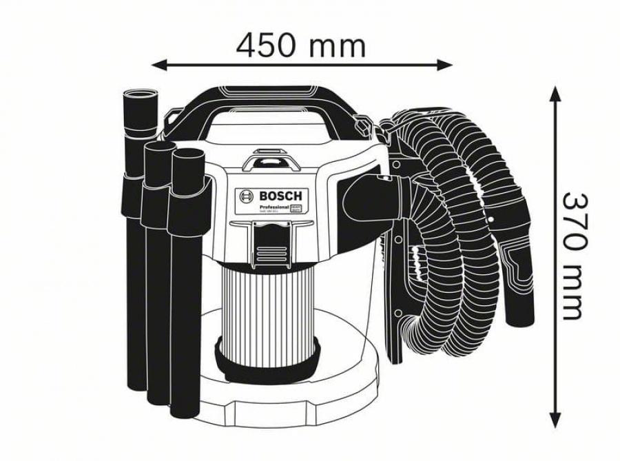 Bosch gas 18v-10 l aspiratore a batteria senza batterie 06019c6300 - dettaglio 2