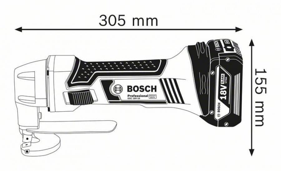 Cesoia per lamiera a batteria bosch gsc 18v-16 0601926201 - dettaglio 3