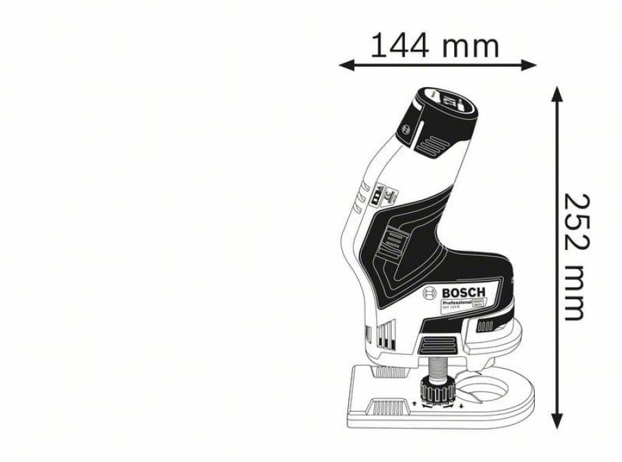 Rifilatore senza batterie bosch gkf 12v-8 06016b0001 - dettaglio 2
