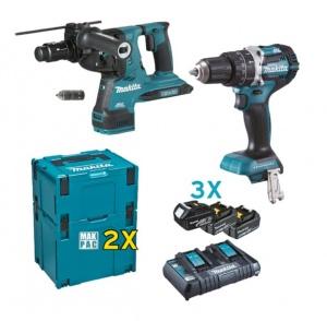 Makita DLX2280PTJ Set elettroutensili a batteria - dettaglio 1