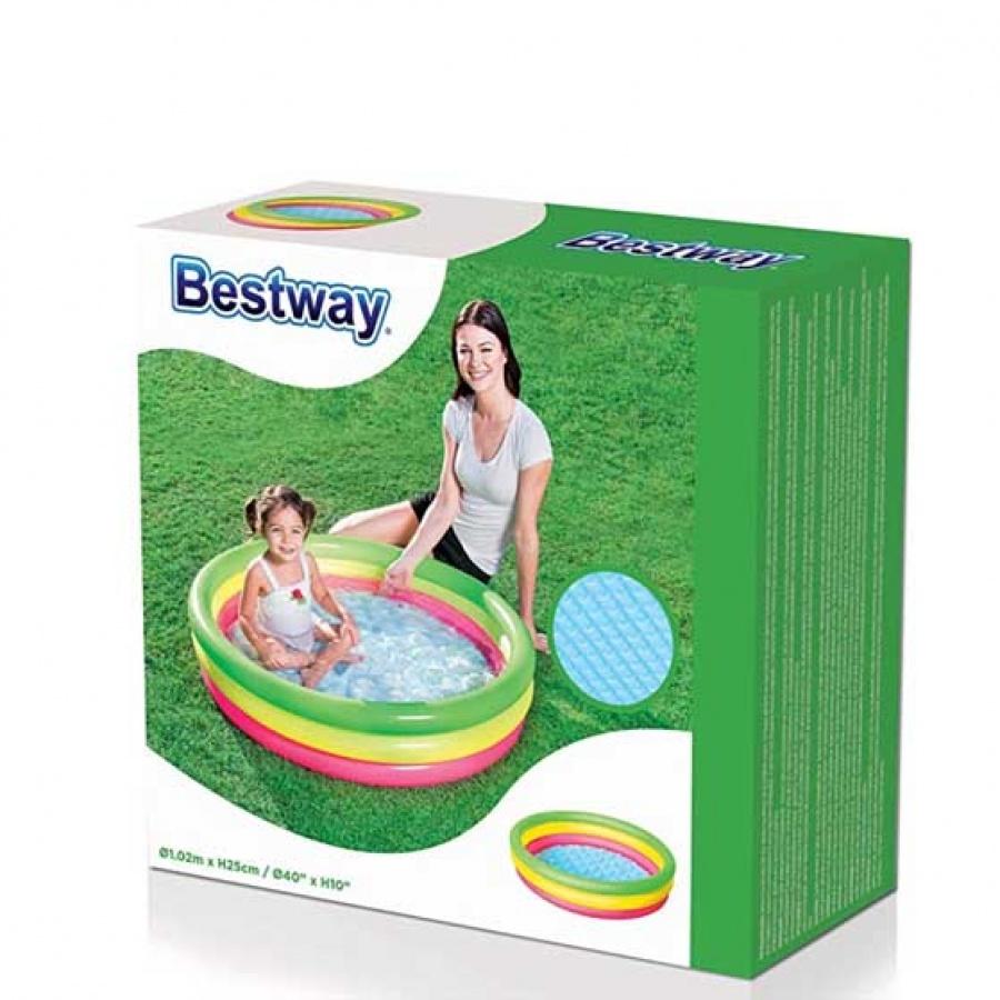 Bestway piscina tonda arcobaleno 51104 - dettaglio 3