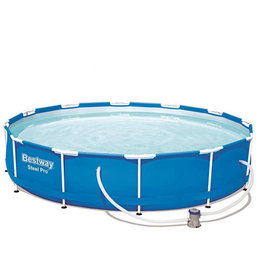 Bestway piscina steel pro tonda con filtro 56681 - dettaglio 1