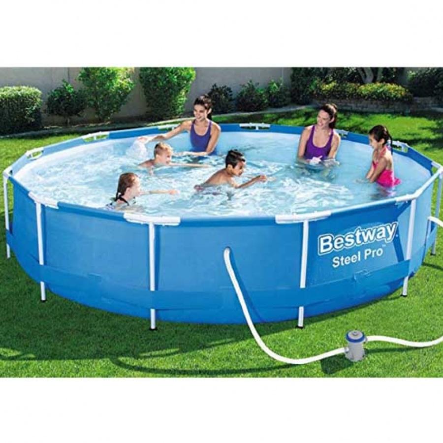 Bestway piscina steel pro tonda con filtro 56681 - dettaglio 2