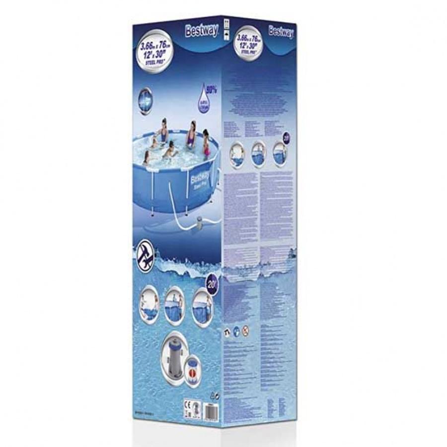 Bestway piscina steel pro tonda con filtro 56681 - dettaglio 3