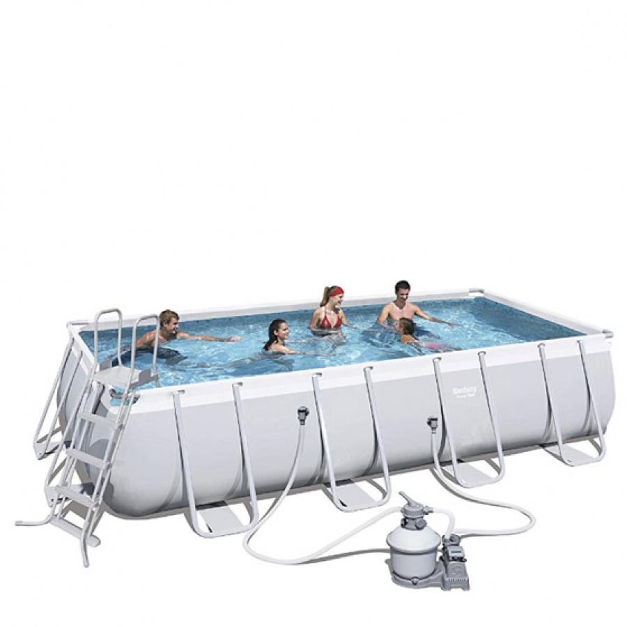 Bestway set piscina power steel rettangolare con filtro 56466 - dettaglio 1