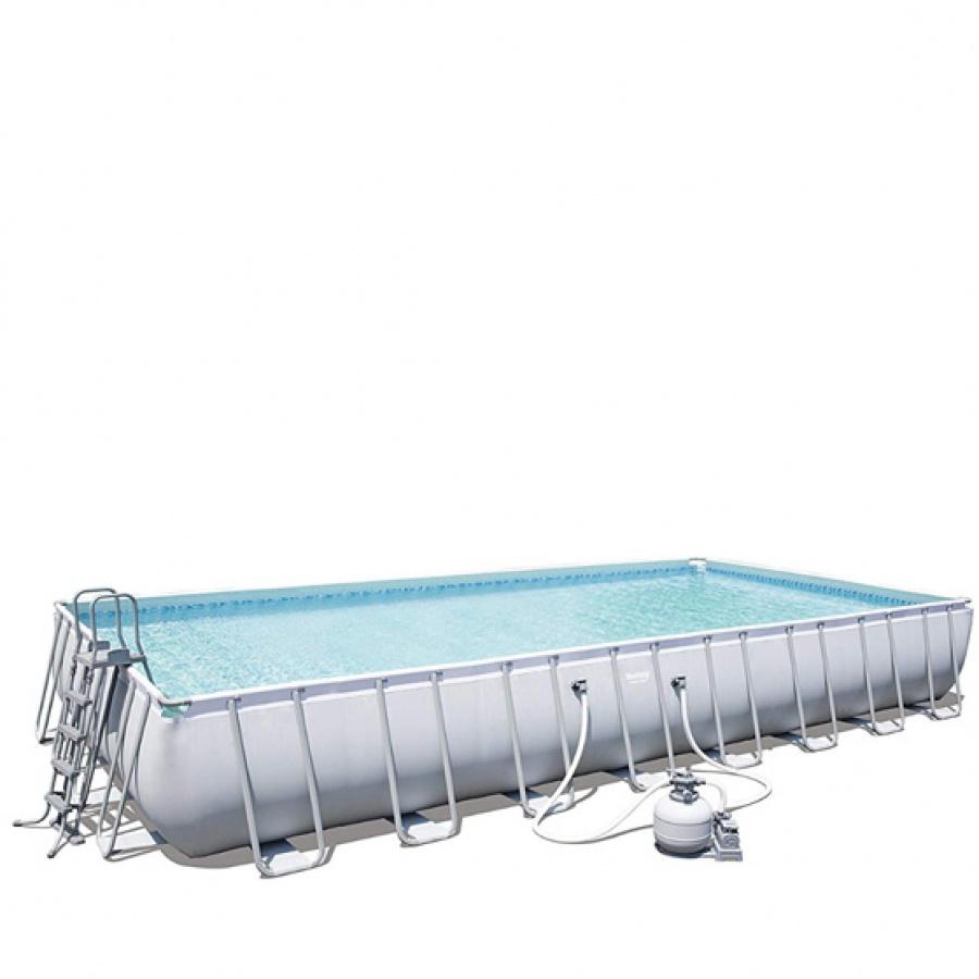 Bestway set piscina power steel rettangolare con filtro 56623 - dettaglio 1