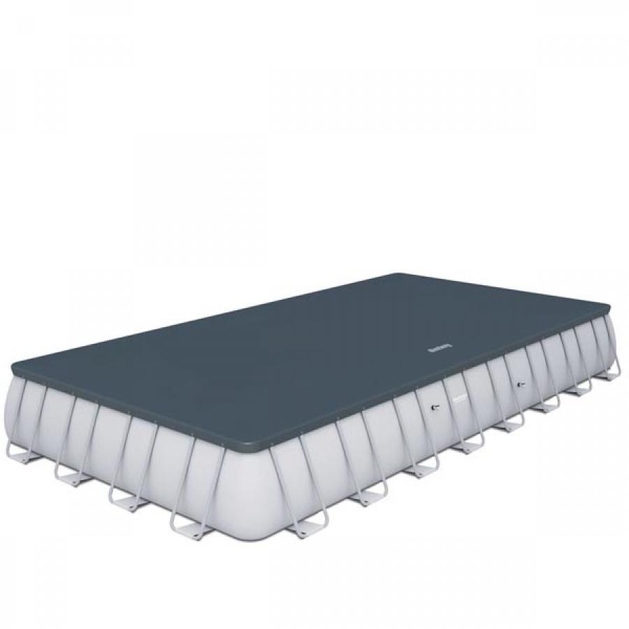 Bestway set piscina power steel rettangolare con filtro 56623 - dettaglio 4