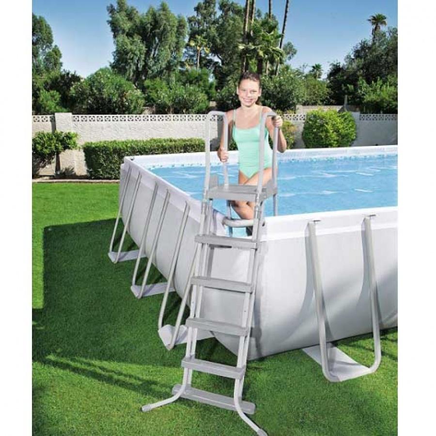 Bestway set piscina power steel rettangolare con filtro 56623 - dettaglio 7