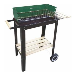 Lapillo barbecue rettangolare con base in legno 11948 - dettaglio 1