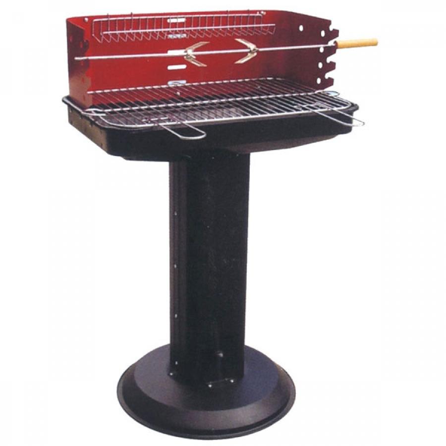 Lapillo barbecue rettangolare con piantana 11787t - dettaglio 1