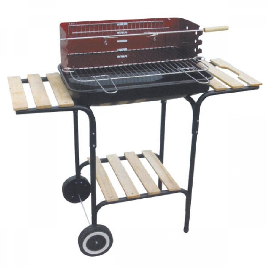 Lapillo barbecue rettangolare con base in legno 11327 - dettaglio 1