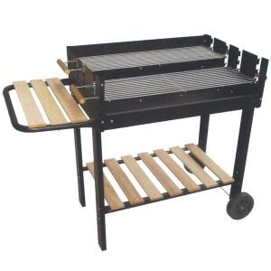 Lapillo barbecue rettangolare con base in legno 11349 - dettaglio 1