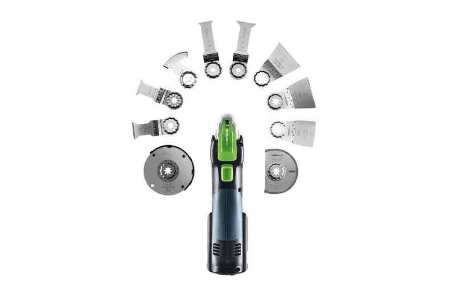 Utensile multifunzione a batteria festool 574851 osc 18 li 3,1 e-set - dettaglio 9